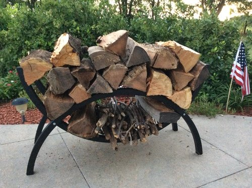 The Woodhaven 3 Foot Crescent Firewood (Firewood Rack 3 Foot)