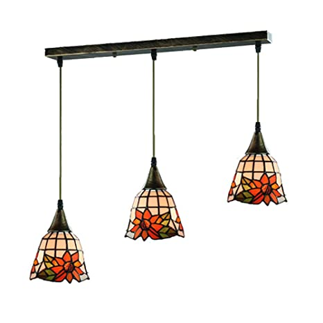 Topdeng Tiffany Style 3 Lights Pendant Light E26 Hanging