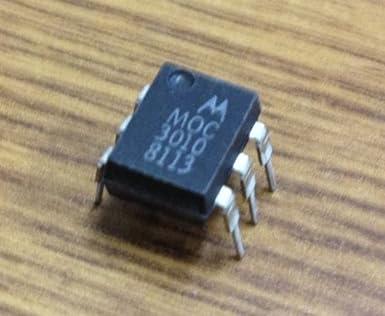 10 x MOC3010 6-Pin DIP Random-Phase Optoisolators Triac Driver Output