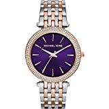 Michael Kors Women's Darci Watch, Silver/Rose/Amethyst, One Size