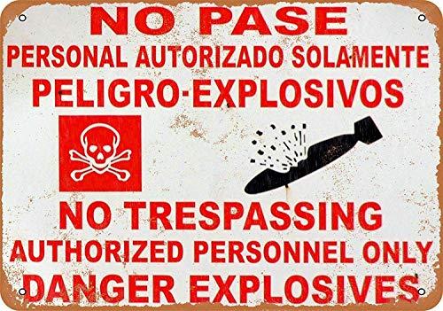 不法侵入危険爆発物なし 金属板ブリキ看板注意サイン情報サイン金属安全サイン警告サイン表示パネル