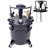 TCP Global Commercial 5 galones (20 litros) Tanque de la olla a presión de pintura en aerosol con agitador de mezcla accionado por aire
