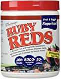 Ruby Reds- Delicious Reds Powder Fruit and Vegetable Supplement with Potent Vitamins, Minerals, Enzymes, Herbs, Nutrients and Probiotics for Overall Health 11oz