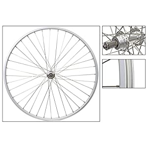 Wheel Master 27 x 1 1/4 Rear Bicycle Wheel, Freewheel, Silver 36H