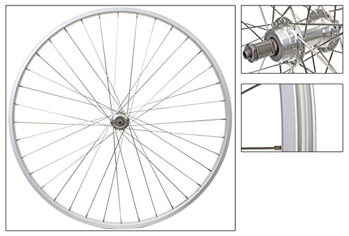 WheelMaster 27 x 1-1/4 Rear Bicycle Wheel, Freewheel, Silver 36H