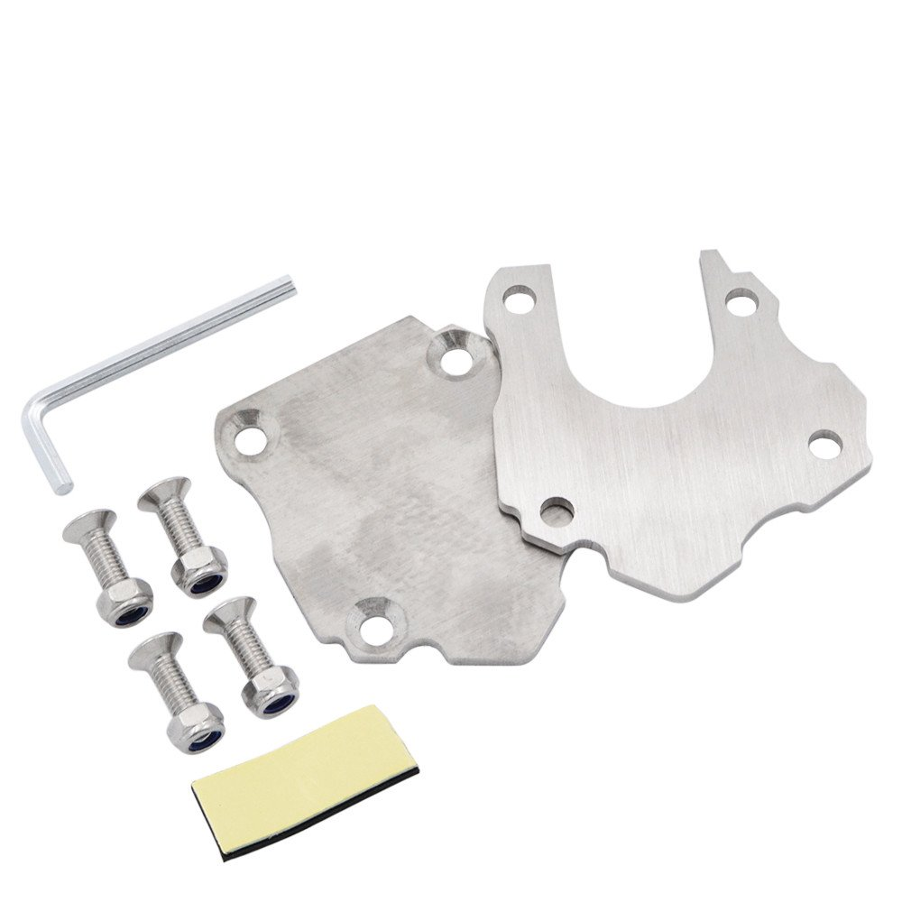 BJ Global Universal Motorcycle Side Kickstand Stand Enlarger Foot Pad Extension Plate