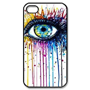 DIY Phone Case for Iphone 4,4S, Rainbow Eye Cover Case - HL-R639280