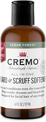 Cremo Cedar Forest Beard & Scruff Softener, Softens and Conditions Coarse