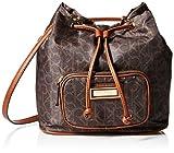 Calvin Klein Belfast Nylon Bucket Crossbody, Brown/Khaki