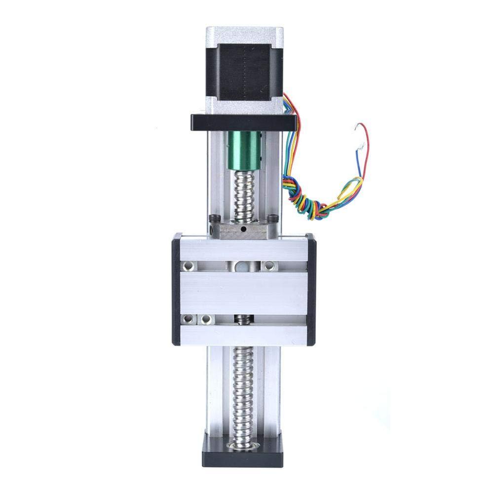 einwelliger linearer CNC-Schiebetisch mit 42 Motoren 100 mm Hub Kugelumlaufschiene 1605