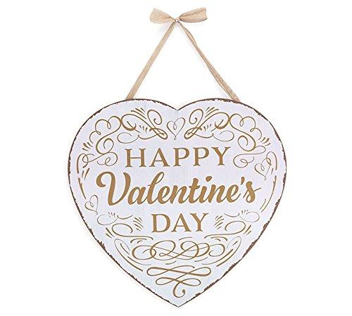 Burton /& Burton Happy Valentine Day Heart Wall Hanging OLK8W 9732434
