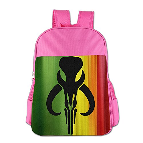 Bounty Hunter Boba Fett Bantha Mandalore Logo School Backpack Bag