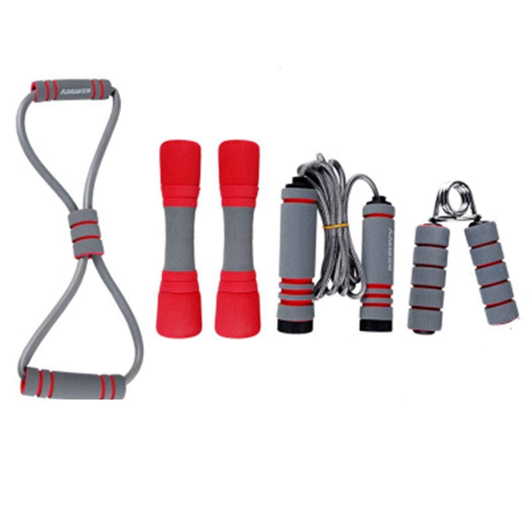 HUIFA スポーツスーツフィットネス機器ファミリースポーツスーツダンベルグリップフォースプーラージャンプロープ4ピース あなたを健康で強くすることができます  紫の B07QC19TKF