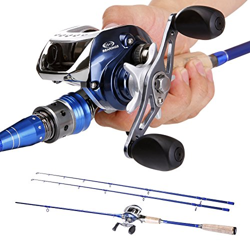 Sougayilang 2pieces Baitcasting Fishing Rod with Fishing Reel Combos Left/Right (Left)
