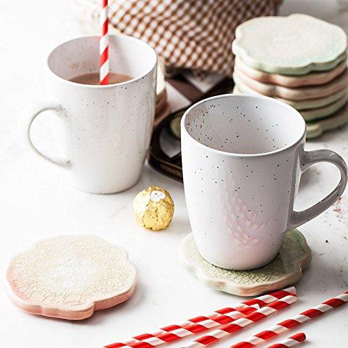 (Europe Style Creative ceramic cups and mugs with handgrip porcelain drinkware office water mug milk tea coffee mug cup dot 400ml)