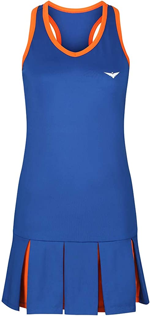 Bace M/ädchen Tenniskleid Blue and Orange Pleated Dress
