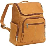 Le Donne Leather LD-4020-Tan Laptop Backpack