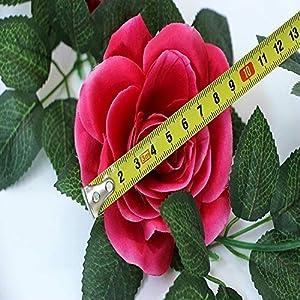 SMYLLS 6PCS(48 FT) Artificial Rose Vines Fake Silk Flowers Rose Garlands Hanging Rose Ivy Plants for Wedding Home Office Arch Arrangement Decoration (Multicolor) 3