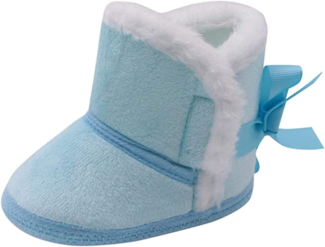 HDUFGJ Winterschuhe Unisex-Baby Neugeborenes Fleece Booties Schneeschuhe Baumwollstiefel