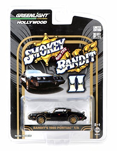 Greenlight 1:64 Hollywood Series Smokey and The Bandit II Bandit's 1980 Pontiac Trans Am Diecast Car -