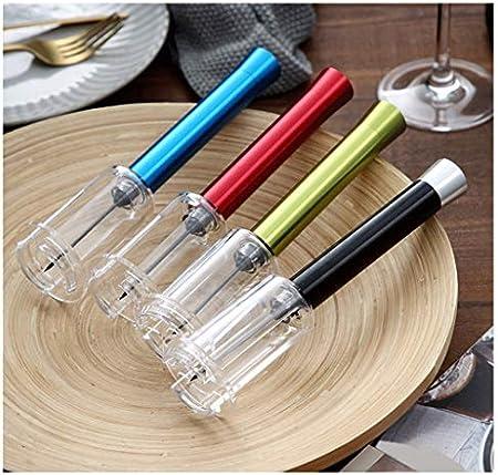 Sacacorchos para Botellas Vino Sacacorchos neumático simple y rápida herramienta Sacacorchos Sacacorchos Hogar Negro es muy adecuado for los amantes del vino Abridor Botellas ( Color : D )
