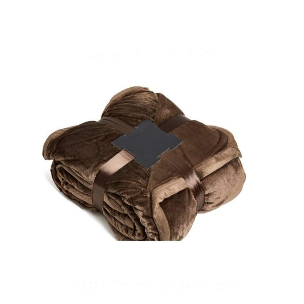 ZHIZHEN Blanket Velvet Blanket Double-Layer Thickening Edging Plus Velvet air-Conditioning Blanket by ZHIZHEN