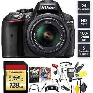 Nikon D5300 DSLR Camera + AF-P 18-55mm Lens + 128GB Memory Card Base Combo International Model (B07HKRC548) | Amazon price tracker / tracking, Amazon price history charts, Amazon price watches, Amazon price drop alerts