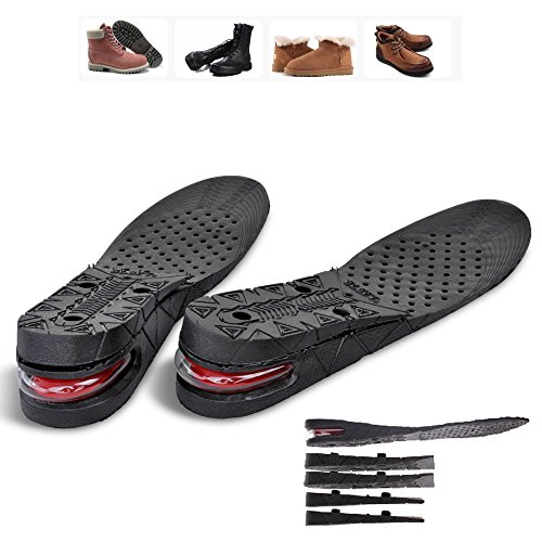 Flexzion Unisex Increase Insole 3 Layer Height Shoes Heel Full Insert Lift Elevator Air Cushion Pad 7cm (Approximately 2.8 inches) Taller for Adult Men Women Size USA 4.5-9 by Flexzion