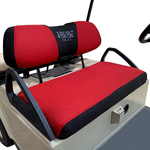 red and black bench seat cover - 8