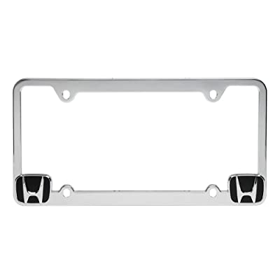 Bully WL051-C Honda License Plate Frame - Chrome: Automotive