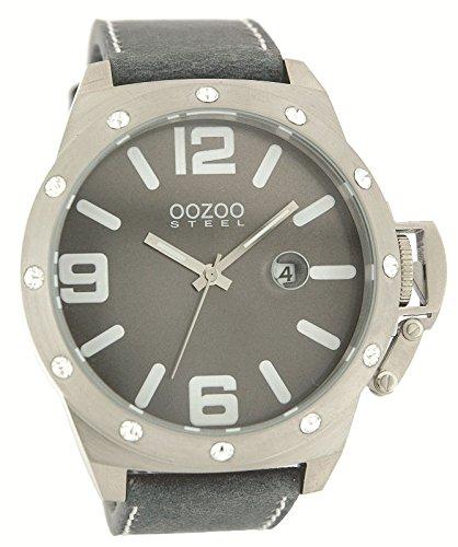 Oozoo Steel os0125 XXL Reloj de hombre gris/brillantes - 52 mm Günstig comprar: Amazon.es: Relojes