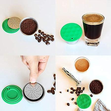 XueSenShangMaoBu Acero Inoxidable Reutilizable café cápsula de ...