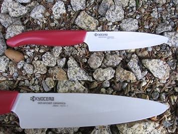 Cuchillos de cerámica Kyocera FK 110 de WH roja Mango ...