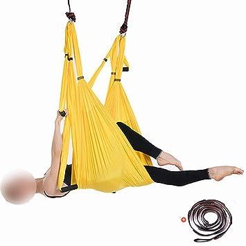 Zebuakuaede Hamaca de Yoga aérea con extensión de crisantemo ...