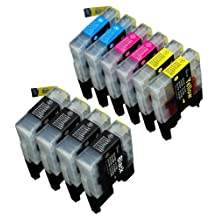 10 Pack Compatible Brother LC-71 , LC-75 4 Black, 2 Cyan, 2 Magenta, 2 Yellow for use with Brother MFC-J280W, MFC-J425W, MFC-J430W, MFC-J435W, MFC-J5910DW, MFC-J625DW, MFC-J6510DW, MFC-J6710DW, MFC-J6910DW, MFC-J825DW, MFC-J835DW. Ink Cartridges for inkjet printers. LC-71BK , LC-71C , LC-71M , LC-71Y , LC-75BK , LC-75C , LC-75M , LC-75Y © Zulu Inks