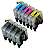 10 Pack Compatible Brother LC-71 , LC-75 4 Black, 2 Cyan, 2 Magenta, 2 Yellow for use with Brother MFC-J280W, MFC-J425W, MFC-J430W, MFC-J435W, MFC-J5910DW, MFC-J625DW, MFC-J6510DW, MFC-J6710DW, MFC-J6910DW, MFC-J825DW, MFC-J835DW. Ink Cartridges for inkjet printers. LC-71BK , LC-71C , LC-71M , LC-71Y , LC-75BK , LC-75C , LC-75M , LC-75Y © Blake Printing Supply, Office Central