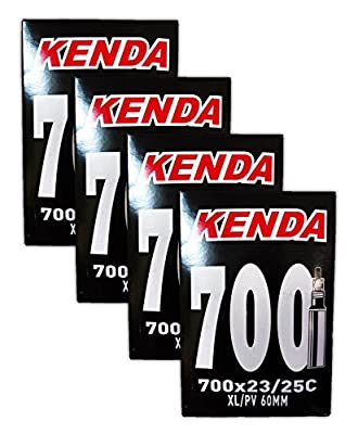 Kenda 700 x 23/25c XL Bicycle Inner Tubes - 60mm Presta Valve - FOUR (4) PACK
