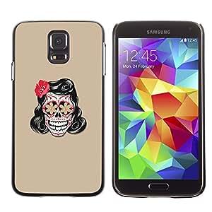 Carcasa Funda Case // V0000588 Vector Floral Skull Tattoo// Samsung Galaxy S5 i9600
