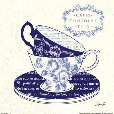 Blue Cups II by Stefania Ferri - 12x12 Inches - Art Print Poster
