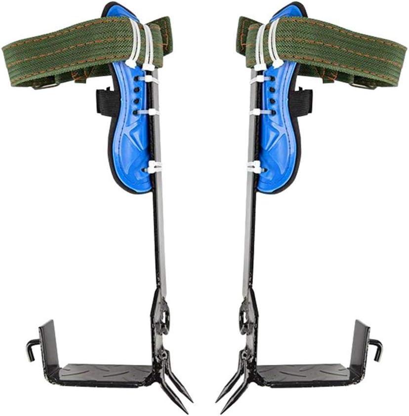 Juego de puntas de escalador de árbol actualizado de 2 piezas, cinturón de seguridad para el trabajo del árbol, espuelas de escalada trepadoras para trepar a los árboles, recolección de frutas, etc.