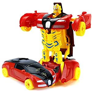 Cartoon transformers kids Toy car mini Car-Robot children model toys gift