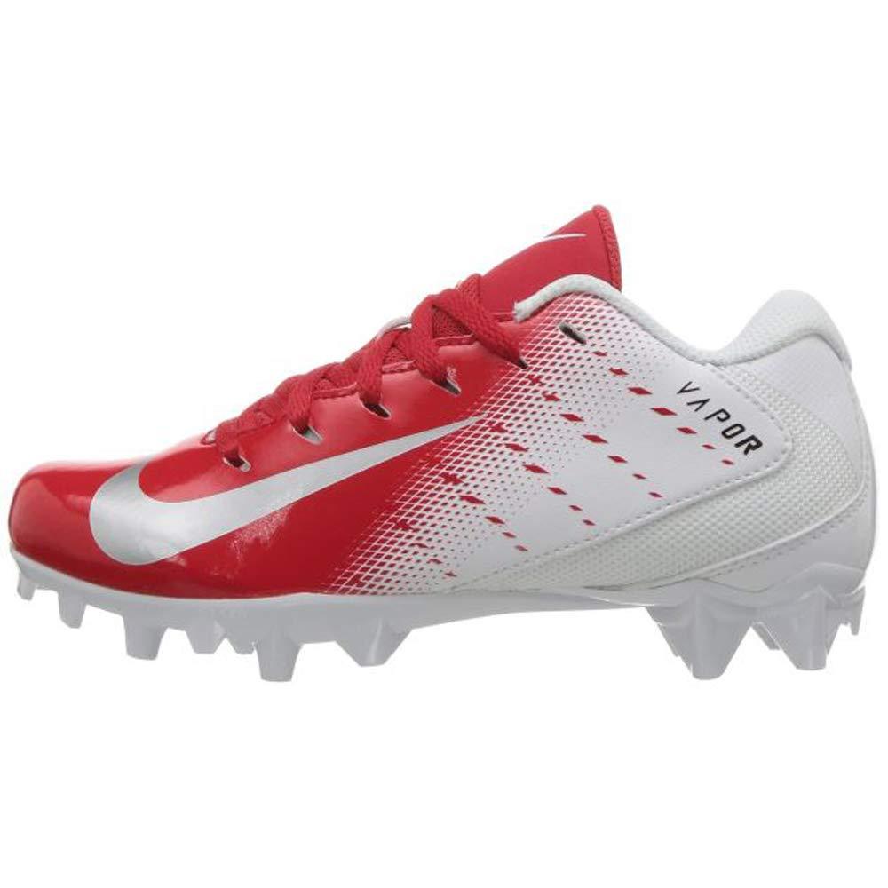 Nike Grade School Vapor Untouchable Varsity 3 Football Cleat (5 M US Big Kid, White/Metallic Silver/University Red/Black)