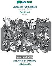 BABADADA black-and-white, Leetspeak (US English) - Eesti keel, p1c70r14l d1c710n4ry - piltsõnastik: Leetspeak (US English) - Estonian, visual dictionary