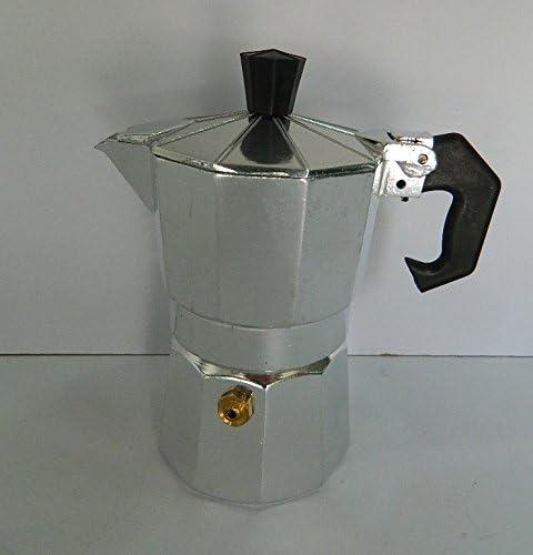 Cafetera italiana 12 tazas café aluminio pulido cocinas excepto inducción 27 x 12 cm: Amazon.es: Hogar
