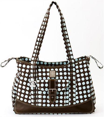 Kalencom Heavenly Dots Week-Ender Bag, Chocolate/Blue - Kalencom Heavenly Dots