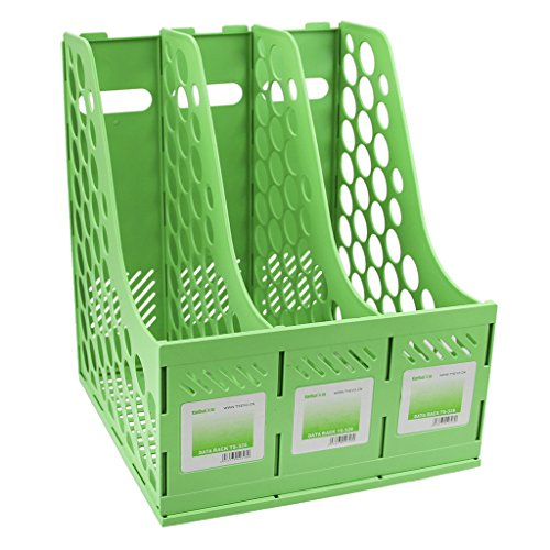- Clobeau Heavy Duty Four Sections File Rack Paper Magazine Holder Home Office Desk Book Sorter Storage Hanger Tidy Dispay Bin Desktop Shelf File Dividers Cabinet Document Tray Organizer Box
