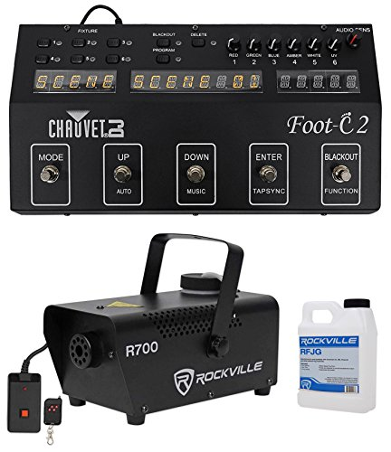 Chauvet DJ Foot C-2 36-Channel DMX Foot Controller w/MIDI Input w/Display+Fogger