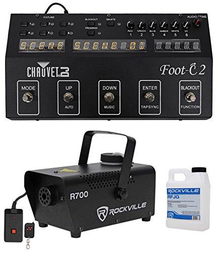 Chauvet DJ Foot C-2 36-Channel DMX Foot Controller w/MIDI Input w/Display+Fogger (Foot Lighting Controller)