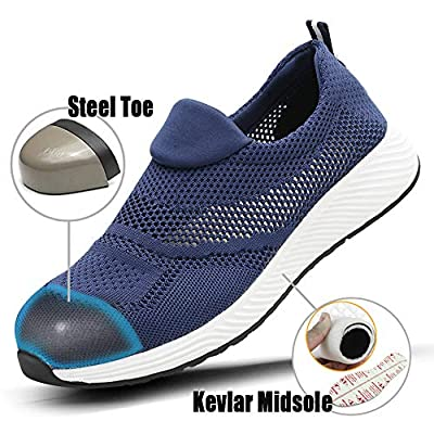 TICCOON Steel Toe Shoes Work Safety Shoes for Men and Women Lightweight Industrial & Construction Shoe