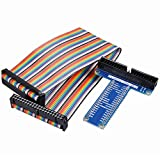 UCEC 40 Pin RPi GPIO Breakout Expansion Board with 40 Pin 20cm Rainbow Ribbon Cables for Raspberry Pi 2 3 Model B & B+